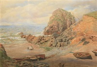 at mullion cove, cornwall by lawrence duncan