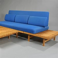 solid oak modular system comprising one daybed section and two minor sections by harbo solvsteen