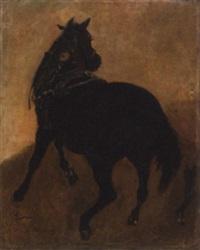 studie eines schweren zugpferdes by wilhelm emele