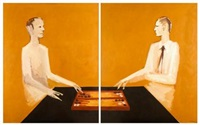 backgammon (diptych) by robert llimós