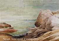 annisquam's rocky shore by albert babb insley