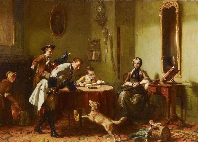 l'heureuse ménage (+ der leere stuhl; 2 works) by david joseph bles