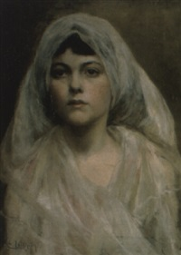 young bride by j.c. leighton