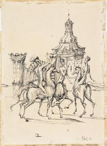 mes cavaliers by domenico gnoli