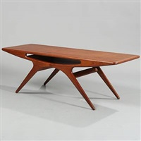 rectangular coffee table with underlying shelf (model 206a) by johannes andersen