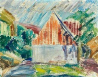 landscape with house by asger jorn