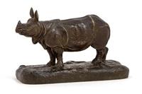 rhinozerus by alfred barye