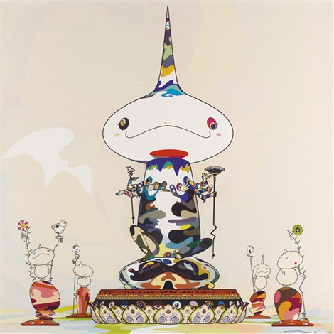 reversed double helix mega power melting dob d set of 2 works by takashi murakami