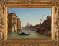 canale grande mit blick auf santa maria della salute by carl morgenstern