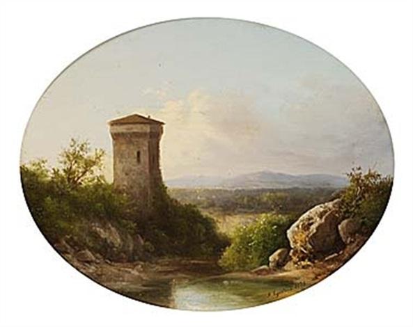 italienskt landskap by guido agostini