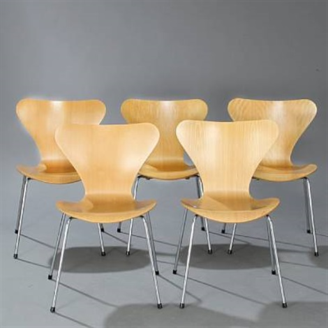 seven chair dining chairs model 3107 set of 6 by arne jacobsen