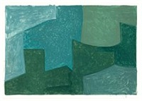 composition bleue et verte by serge poliakoff