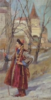 salesman in novgorod by pavel petrovich sokolov-skalua