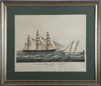discharging the pilot (sketched by j. smith & son) by nathaniel currier