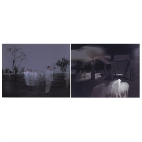 sun set no.4 (+ sun set no.5; 2 works) by wang gongxin
