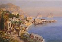 blick auf capri mit den faraglioni-felsen by gottfried arnegger