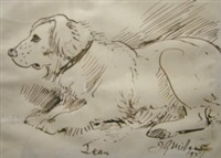 horse (study) (+ 4 others; 5 works) by john guille millais