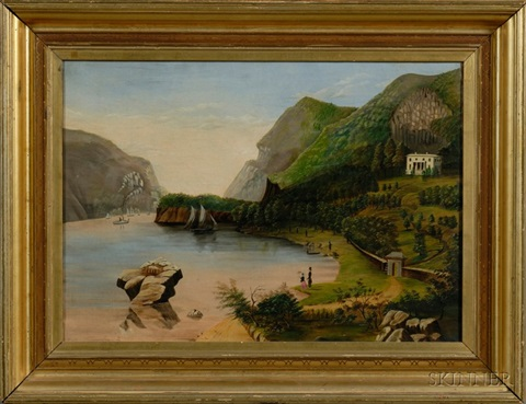 undercliff near goldspring new york the seat of general george p morris by thomas chambers