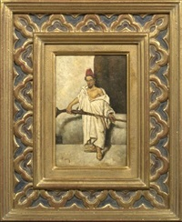 turkish rifleman in a red fez by nicolás (jiménez caballero navarro) alpériz
