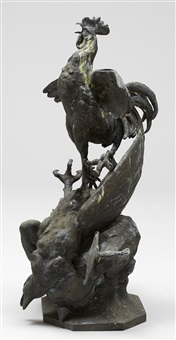 coq gaulois triomphant by georges lucien vacossin
