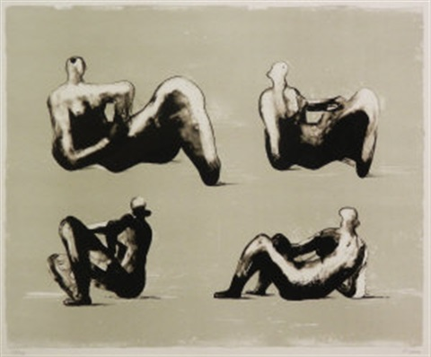 four reclining figures by henry moore