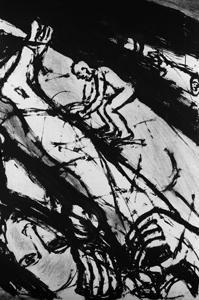ohne titel (triptych) by josef felix müller