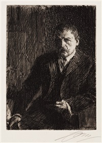 self portrait i by anders zorn