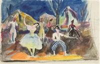 szene aus einer aufführung des schwedischen balletts by ernesto de fiori