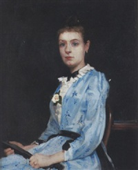 porträt einer dame by francois-maurice lard