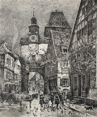 der röderbogen in rothenburg ob der tauber by paul geissler