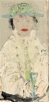 white figure: absinthe drinker by renzo vespignani