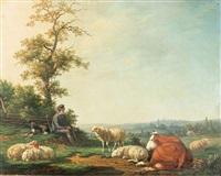 idyllische hirtenpartie by a. b. manque