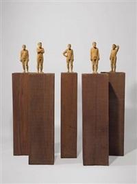 fünf männliche akte (5 works) by stephan balkenhol