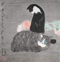 双猫图 by jia pingxi