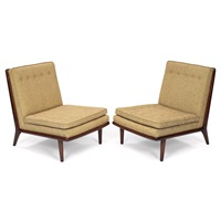 slipper chairs (pair) by john widdicomb furniture (co.)