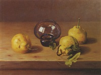still life with pears by balazs wanyi