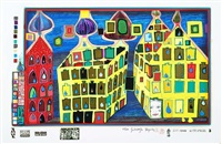 look at it on a rainy day (set of 10) by friedensreich hundertwasser