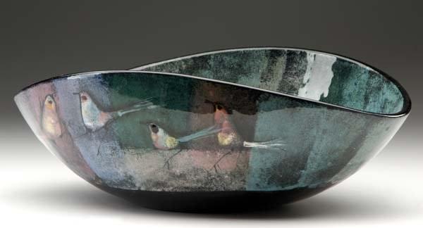 Curved bowl by Polia Pillin on artnet