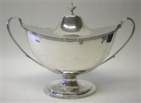 a late victorian two-handled soup tureen by william hutton & sons