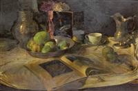 stillleben mit äpfeln und kunstband by rené reinicke