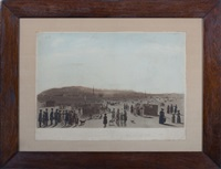 view of the ice point formed between quebec and point levi in the year 1831 by (publisher) rudolph ackermann