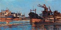 porto di livorno by raffaele de rosa