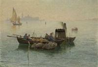 ein morgen in der lagune von venedig by hans schleich