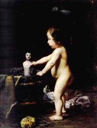 petite fille à la poupée by marius barthalot