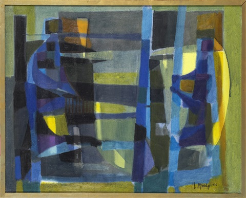 compositon en bleue by marcel mouly