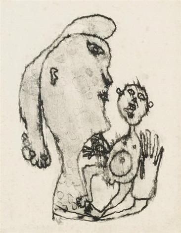 maternité (from matière et mémoire) by jean dubuffet