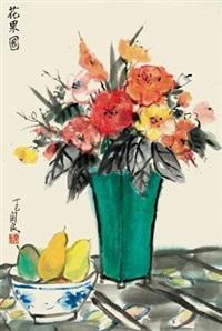 花果图 镜心 设色纸本 by guan liang