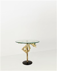 tavolino (coffee table)(sculpture by lucio fontana) by arredamenti borsani (co.)