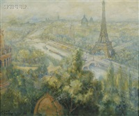 a view of paris by george baer