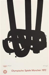 lithographie no. 29. plakat für die olympiade, münchen by pierre soulages